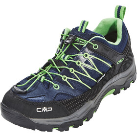 CMP Campagnolo Rigel Low WP Chaussures de trekking Enfant, black blue-gecko
